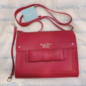 NEW Samantha Thavasa bow crossbody clutch purse